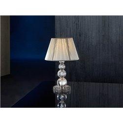 Настольная лампа Mercury малая серебро, Schuller