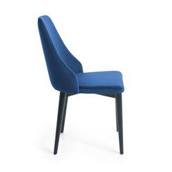 Стул Roxie черные ножки бархатный синий, La Forma (ex Julia Grup)