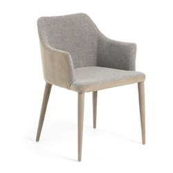 Кресло Danai ткань светло-серый, La Forma (ex Julia Grup)