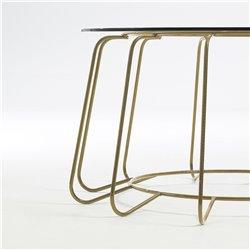 Журнальный столик Paradigm Ø80 со стеклянной столешницей , La Forma (ex Julia Grup)