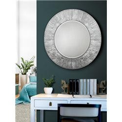 Зеркало круглое Aurora серебряное, Schuller