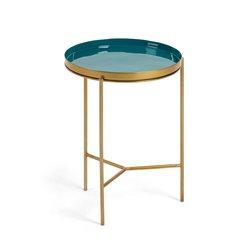 Стол приставной Naoko эмаль зелёная, La Forma (ex Julia Grup)