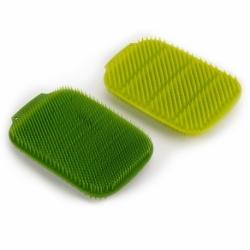 Набор из 2 малых щеток для мытья посуды cleantech зеленый, Joseph Joseph