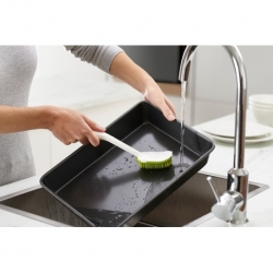Щетка для мытья посуды cleantech с запасной насадкой белая/зеленая, Joseph Joseph
