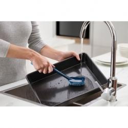 Щетка для мытья посуды cleantech с запасной насадкой синяя, Joseph Joseph
