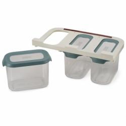 Набор из 3 подвесных контейнеров для хранения cupboardstore 1,3 л темный опал, Joseph Joseph