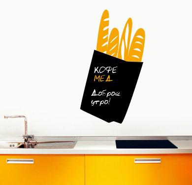 Наклейка для кухни для записей Багеты