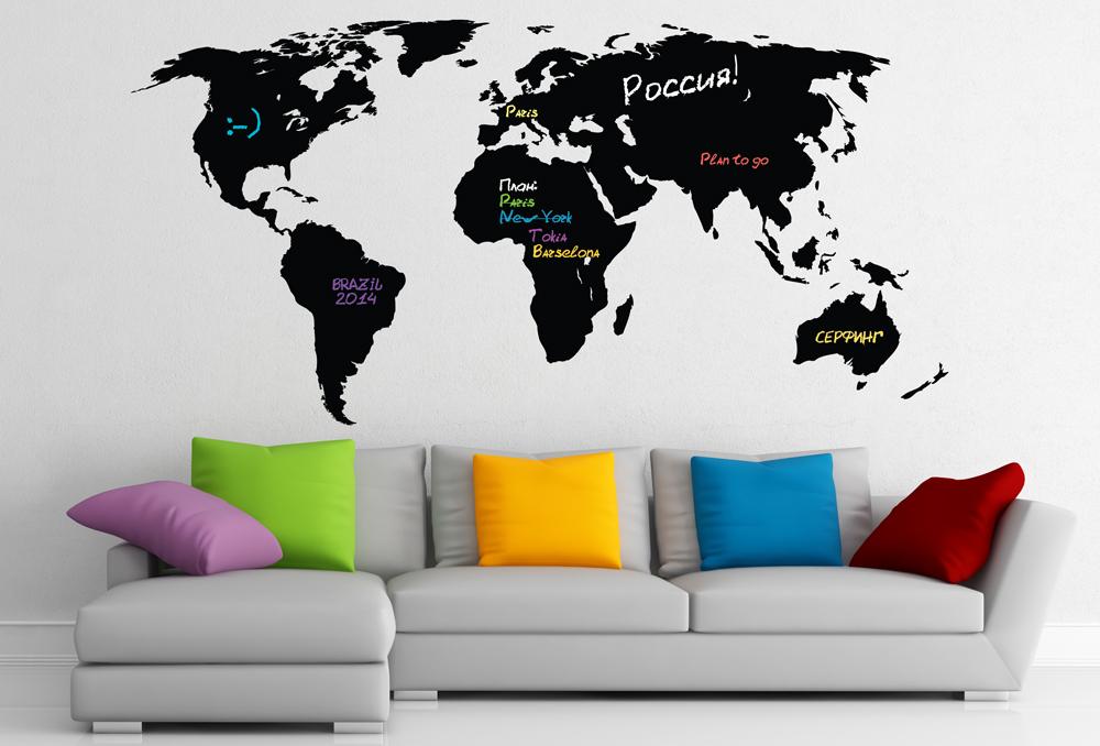 Карта мира для записей